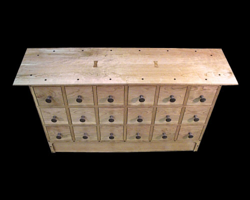 18-Drawer Cd/ Apothecary Chest