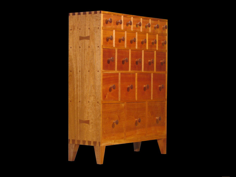 25 Drawer Modern Apothecary Chest